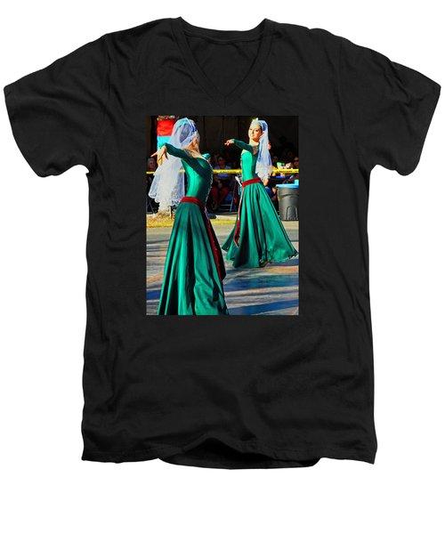 Armenian Dancers 9 Men's V-Neck T-Shirt
