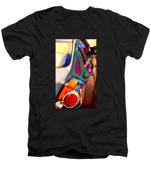 Art Car Men's V-Neck T-Shirt by David Gilbert