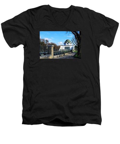 Art Deco Pavillon Men's V-Neck T-Shirt by Christian Slanec