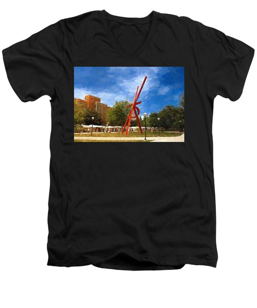 Art Fair Painting Men's V-Neck T-Shirt