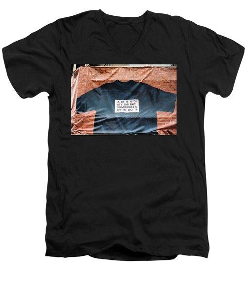 Art Shirt Men's V-Neck T-Shirt