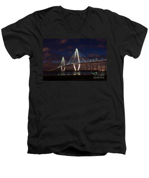 Arthur Ravenel At Night Men's V-Neck T-Shirt
