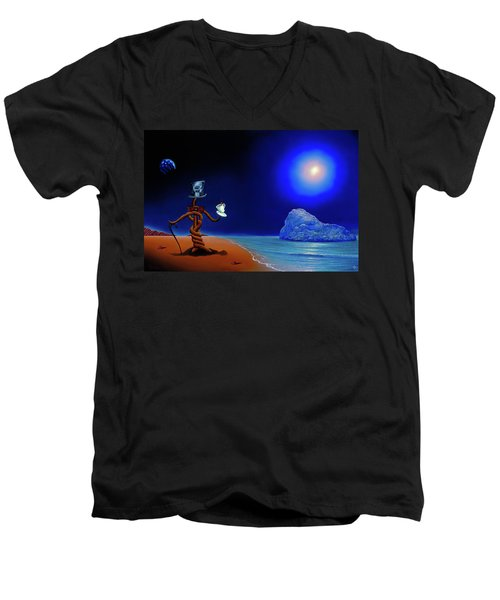 Artist Conversing Men's V-Neck T-Shirt