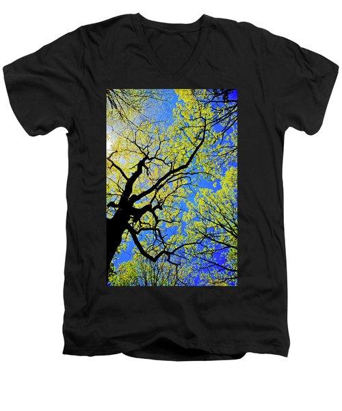 Artsy Tree Canopy Series, Early Spring - # 02 Men's V-Neck T-Shirt