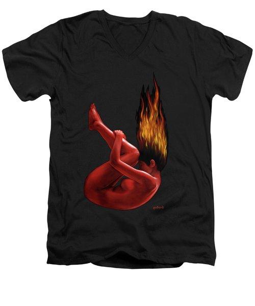 In Flame Men's V-Neck T-Shirt