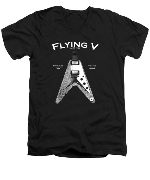 Gibson Flying V Men's V-Neck T-Shirt by Mark Rogan