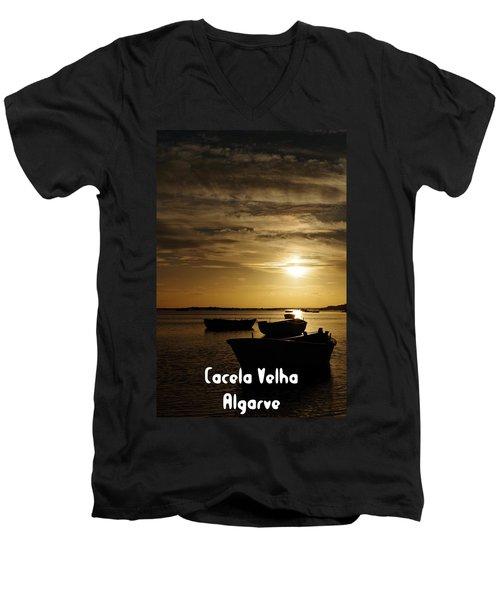 Fishing Boats In Cacela Velha Men's V-Neck T-Shirt