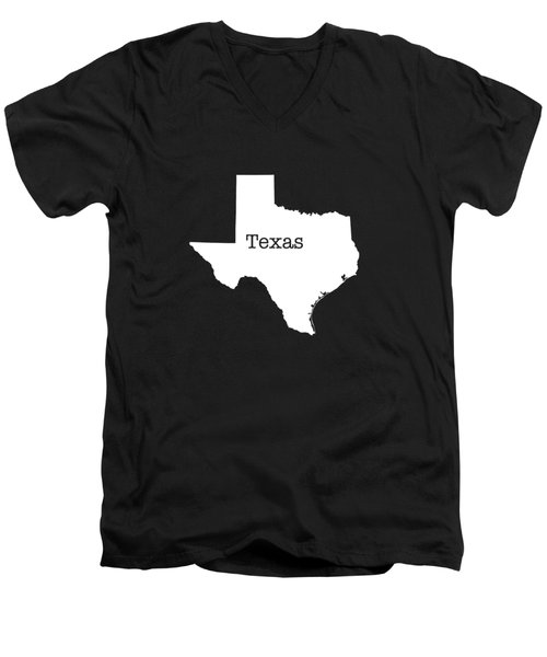 Texas State Men's V-Neck T-Shirt by Bruce Stanfield
