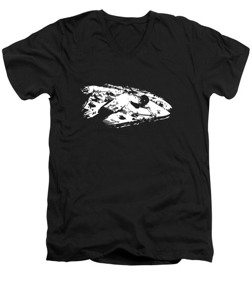 The Falcon In The Shadows Men's V-Neck T-Shirt by Ian King