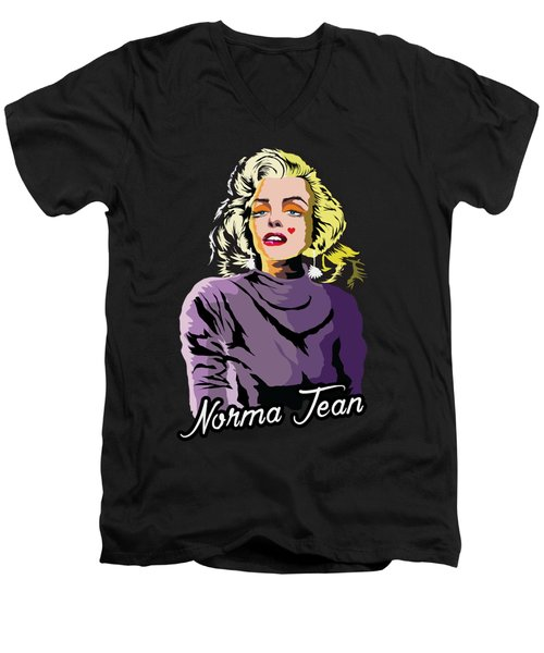 The Timeless Norma Jean Men's V-Neck T-Shirt by Anthony Mwangi