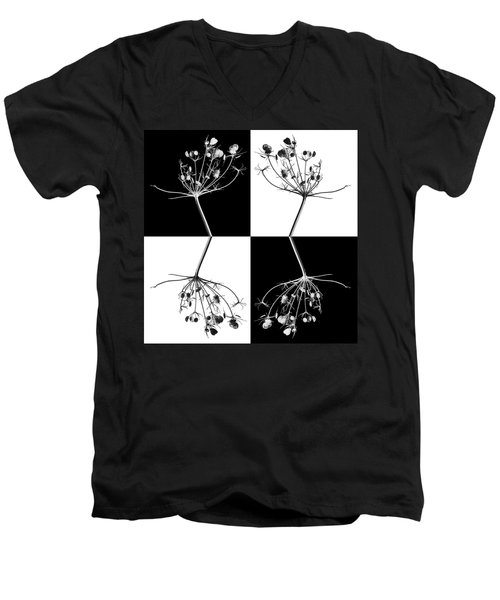 Organic Enhancements 9 Men's V-Neck T-Shirt by Paul Davenport