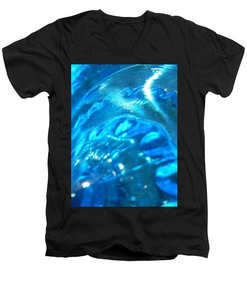 The Beauty Of Blue Glass Men's V-Neck T-Shirt by Samantha Thome