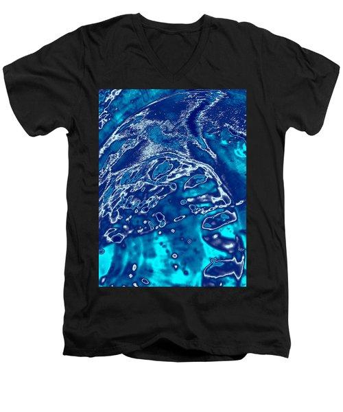 Molten Metal Splash Men's V-Neck T-Shirt by Samantha Thome