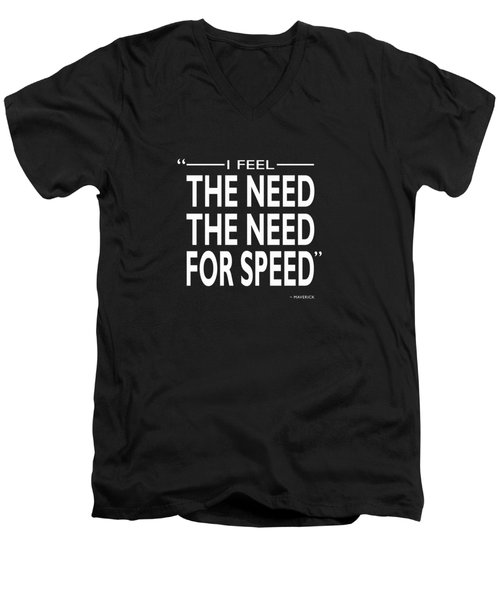 The Need For Speed Men's V-Neck T-Shirt by Mark Rogan