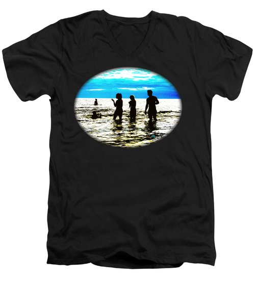 Hot Night At The Beach Men's V-Neck T-Shirt