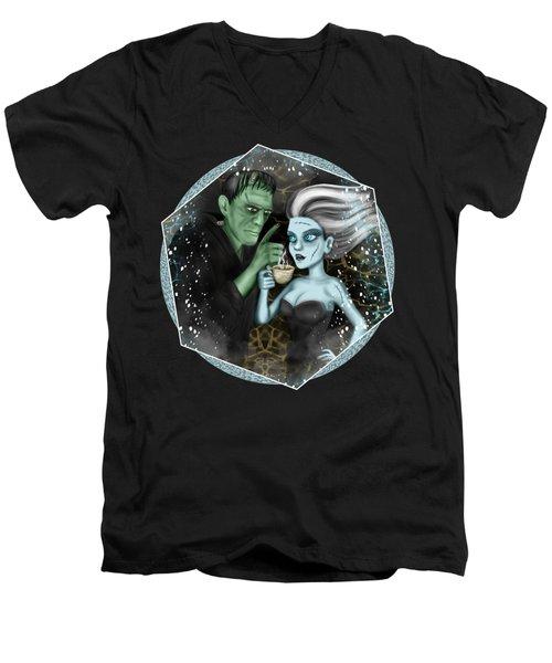 Frankenstien Fantasy Art Men's V-Neck T-Shirt