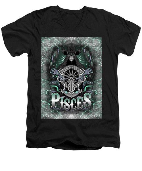 The Fish Pisces Spirit Men's V-Neck T-Shirt