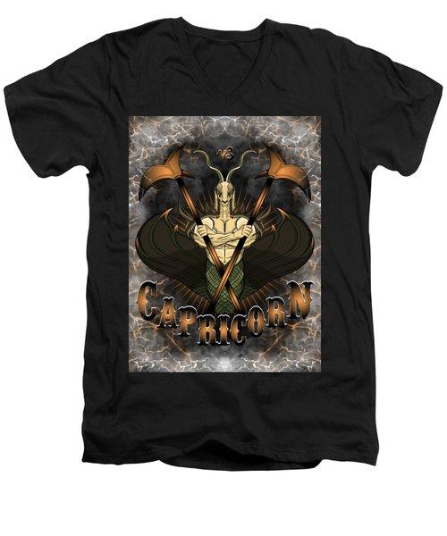 The Goat Capricorn Spirit Men's V-Neck T-Shirt
