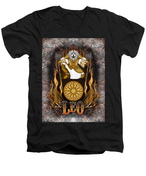 The Lion Leo Spirit Men's V-Neck T-Shirt