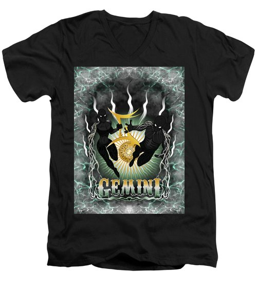 The Twins Gemini Spirits Men's V-Neck T-Shirt