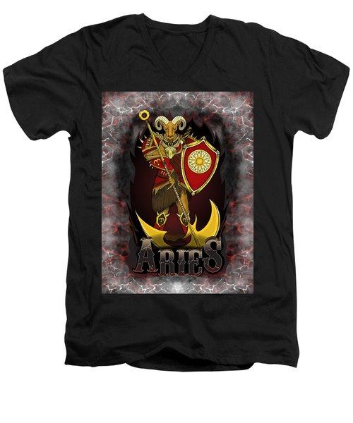 The Ram Aries Spirit Men's V-Neck T-Shirt
