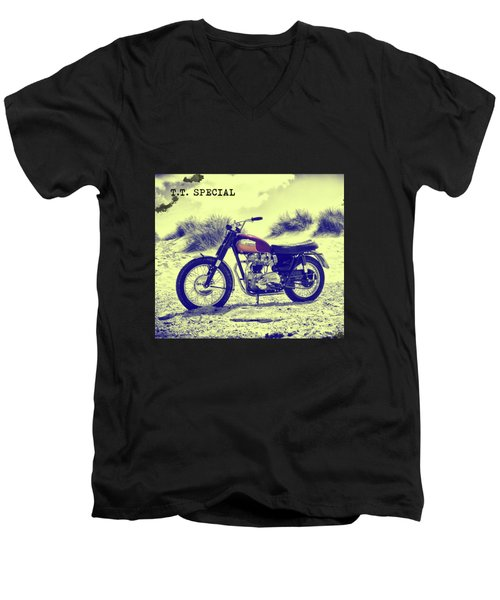 67 Bonneville Tt Special Men's V-Neck T-Shirt