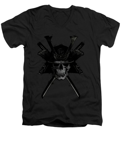 Samurai Skull Men's V-Neck T-Shirt