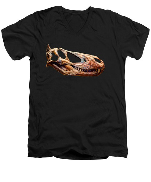 Gorgosaurus Skull Men's V-Neck T-Shirt