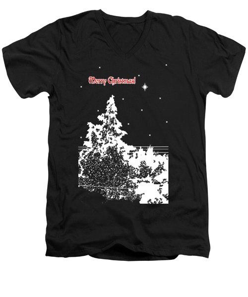 Winter's Night Men's V-Neck T-Shirt by Methune Hively