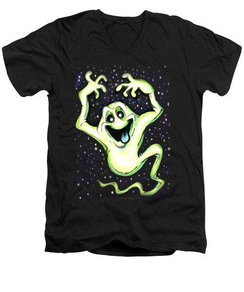 Ghost Men's V-Neck T-Shirt by Kevin Middleton