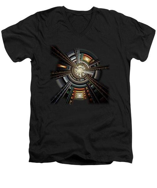 Space Station Men's V-Neck T-Shirt