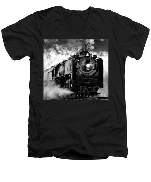Up 844 Steaming It Up Men's V-Neck T-Shirt