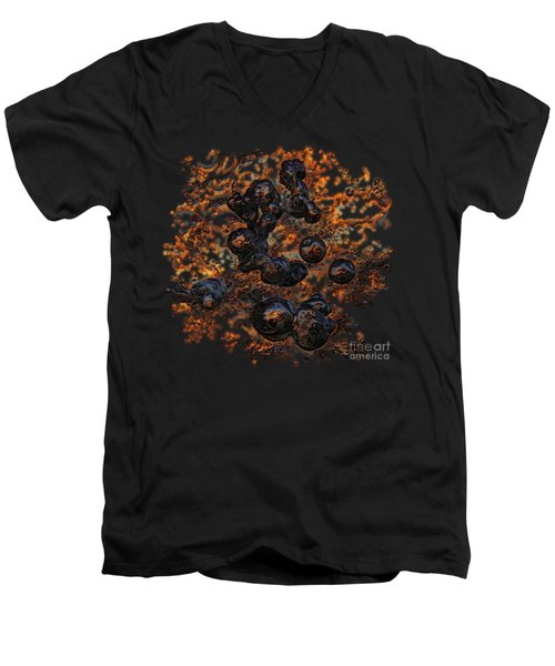 Volcanic Men's V-Neck T-Shirt by Sami Tiainen