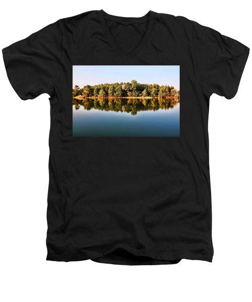 When Nature Reflects Men's V-Neck T-Shirt