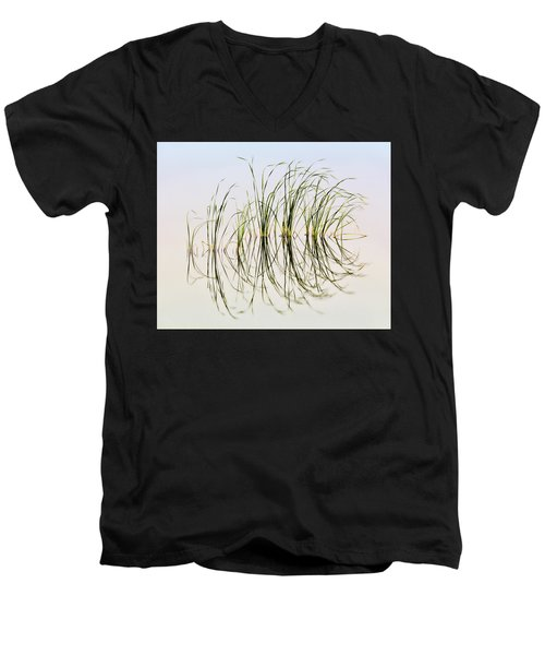 Graceful Grass Men's V-Neck T-Shirt by Bill Kesler