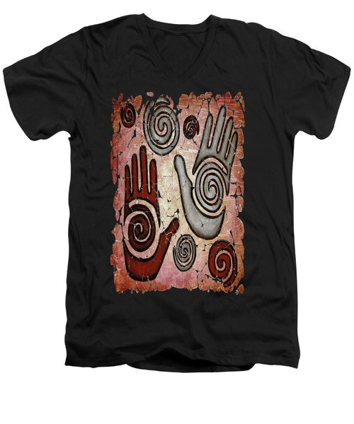 Healing Hands Fresco Men's V-Neck T-Shirt