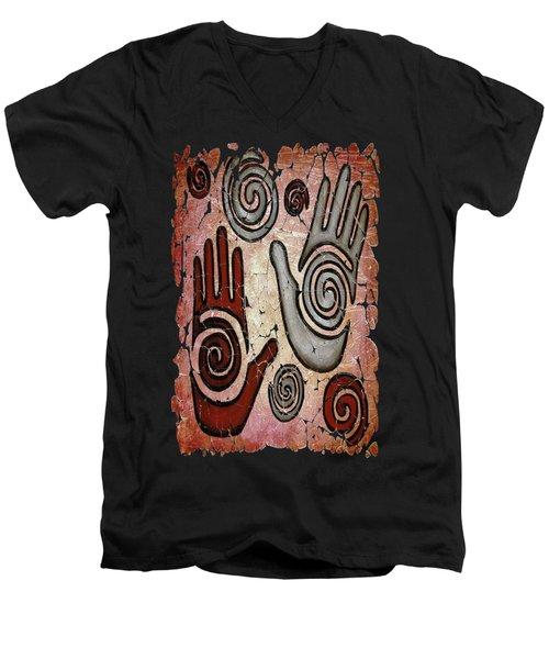 Healing Hands Fresco Men's V-Neck T-Shirt
