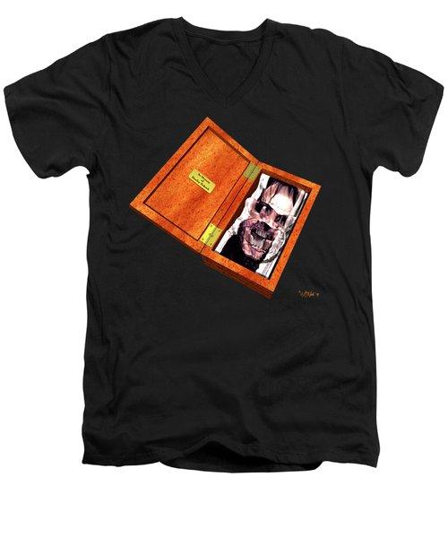 Jack In The Box Men's V-Neck T-Shirt