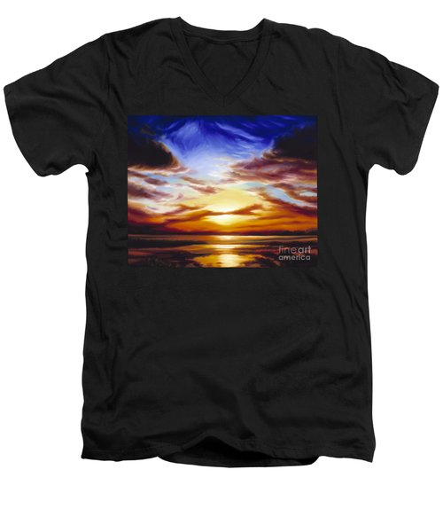 As The Sun Sets Men's V-Neck T-Shirt