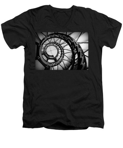 Ascend - Black And White Men's V-Neck T-Shirt