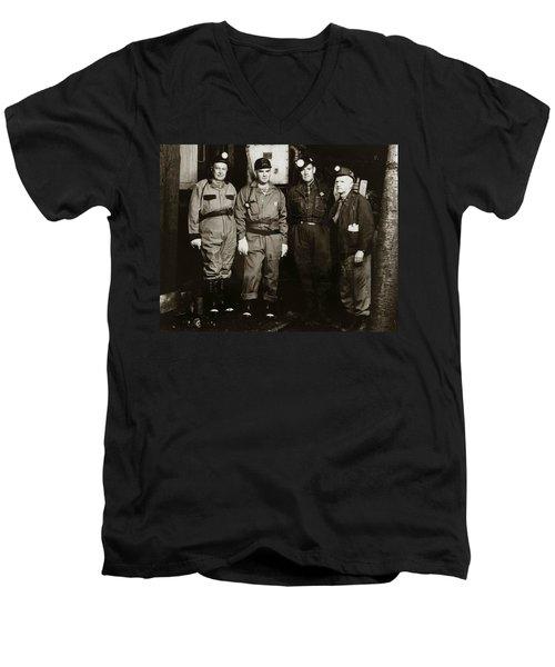 Ashley Pa  Glen Alden Coal Co  Huber Coal Breaker 1962 Men's V-Neck T-Shirt