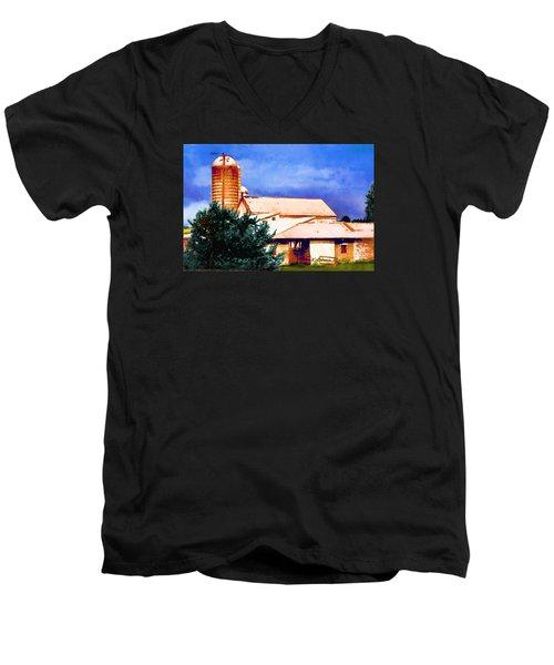 Ashville Silo Men's V-Neck T-Shirt
