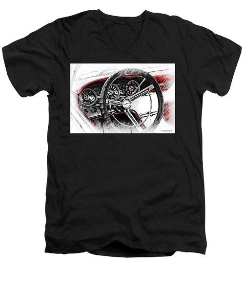 Asleep At The Wheel Men's V-Neck T-Shirt