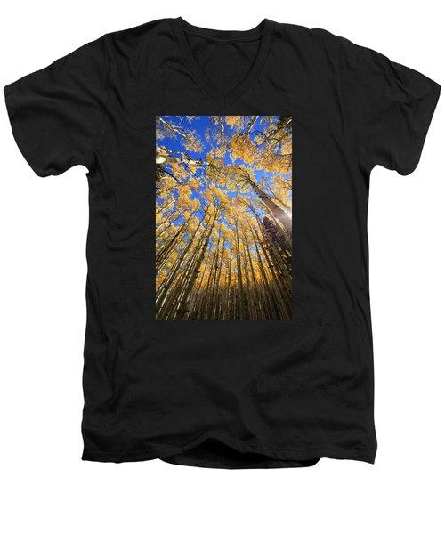 Aspen Hues Men's V-Neck T-Shirt by Tom Kelly