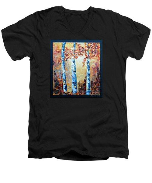 Aspens In Glow Men's V-Neck T-Shirt