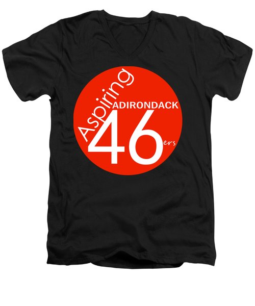 Aspiring Adirondack 46ers Trail Marker Men's V-Neck T-Shirt by Michael French
