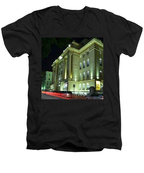 Assim Como O Rio E São Paulo, A Men's V-Neck T-Shirt by Carlos Alkmin