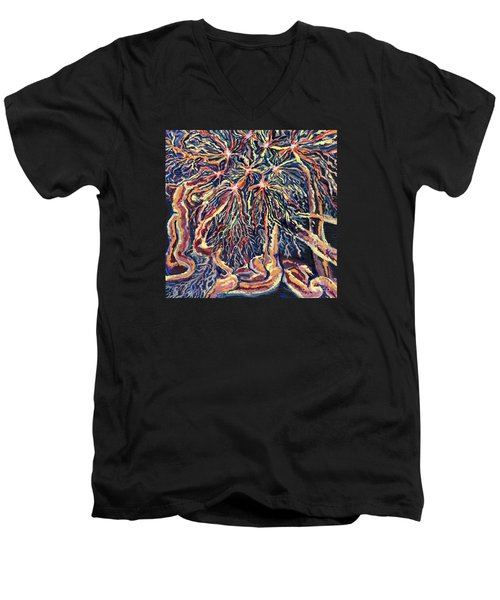 Astrocytes Microbiology Landscapes Series Men's V-Neck T-Shirt