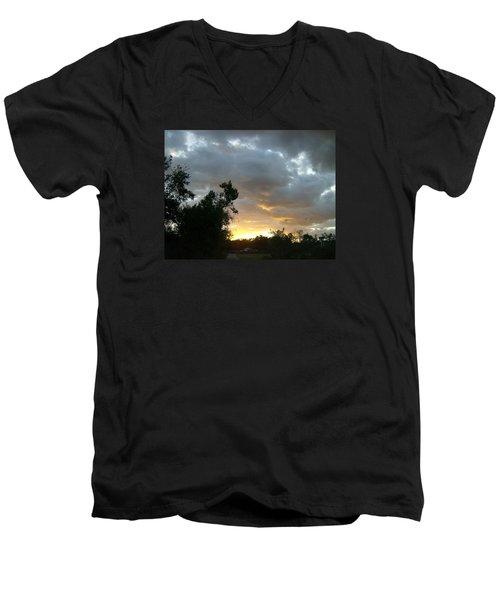 At Daybreak Men's V-Neck T-Shirt by Skyler Tipton