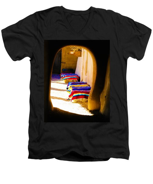 At The Hacienda Men's V-Neck T-Shirt